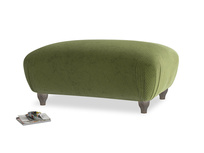 Rectangle Homebody Footstool in Leafy Green Clever Cord