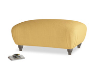 Rectangle Homebody Footstool in Dorset Yellow Clever Linen