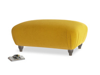 Rectangle Homebody Footstool in Saffron Yellow Clever Cord