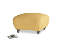 Small Square Homebody Footstool in Dorset Yellow Clever Linen