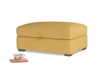 Bumper Storage Footstool in Dorset Yellow Clever Linen