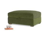 Bumper Storage Footstool in Leafy Green Clever Cord