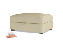 Bumper Storage Footstool in Parchment Clever Linen
