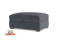 Bumper Storage Footstool in Scandi grey Clever Cord