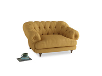Bagsie Love Seat in Dorset Yellow Clever Linen