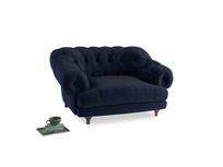 Bagsie Love Seat in Indian Blue Clever Cord