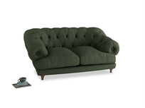 Small Bagsie Sofa in Forest Green Clever Linen
