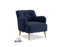 Diggidy Armchair in Indian Blue Clever Cord