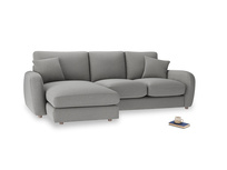 Large left hand Easy Squeeze Chaise Sofa in Cloudburst Bamboo Softie