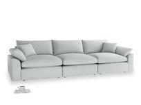 Large Cuddlemuffin Modular sofa in Gull Grey Bamboo Softie