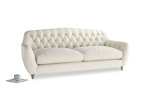Large Butterbump Sofa in Alabaster Bamboo Softie