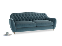 Large Butterbump Sofa in Lovely Blue Clever Cord