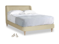 Double Puffball Bed in Parchment Clever Linen
