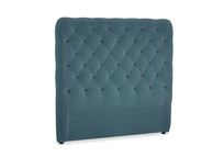 Double Tall Billow Headboard in Lovely Blue Clever Cord