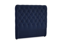 Double Tall Billow Headboard in Indian Blue Clever Cord