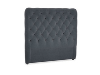 Double Tall Billow Headboard in Scandi grey Clever Cord