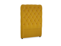 Single Tall Billow Headboard in Saffron Yellow Clever Cord