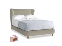 Double Hugger Bed in Blighty Grey Clever Cord
