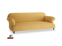 Large Soufflé Sofa in Dorset Yellow Clever Linen