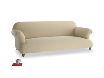 Large Soufflé Sofa in Hopsack Bamboo Softie