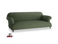 Large Soufflé Sofa in Forest Green Clever Linen