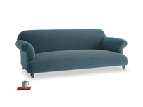 Large Soufflé Sofa in Lovely Blue Clever Cord