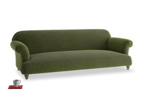 Extra large Soufflé Sofa in Leafy Green Clever Cord
