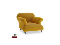 Soufflé Armchair in Saffron Yellow Clever Cord