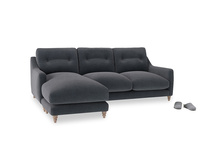 Large left hand Slim Jim Chaise Sofa in Scandi grey Clever Cord