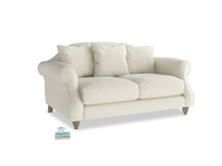 Small Sloucher Sofa in Alabaster Bamboo Softie