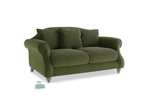 Small Sloucher Sofa in Leafy Green Clever Cord