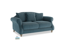 Small Sloucher Sofa in Lovely Blue Clever Cord