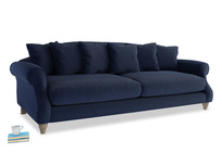 Extra large Sloucher Sofa in Indian Blue Clever Cord