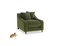 Oscar Armchair in Leafy Green Clever Cord