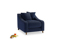 Oscar Armchair in Indian Blue Clever Cord