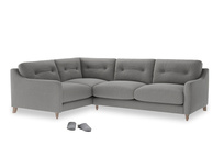Large Left Hand Slim Jim Corner Sofa in Cloudburst Bamboo Softie