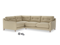 Large Left Hand Slim Jim Corner Sofa in Hopsack Bamboo Softie