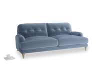 Large Sugar Bum Sofa in Winter Sky clever velvet