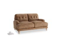 Small Sugar Bum Sofa in Walnut beaten leather