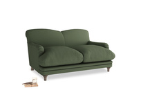 Small Pudding Sofa in Forest Green Clever Linen