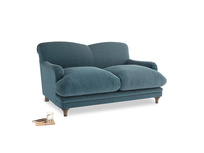 Small Pudding Sofa in Lovely Blue Clever Cord