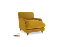 Pudding Armchair in Saffron Yellow Clever Cord