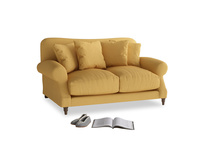 Small Crumpet Sofa in Dorset Yellow Clever Linen