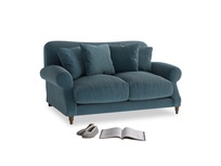 Small Crumpet Sofa in Lovely Blue Clever Cord