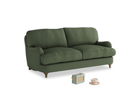 Small Jonesy Sofa in Forest Green Clever Linen
