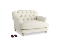 Truffle Love seat in Alabaster Bamboo Softie