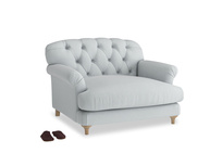 Truffle Love seat in Gull Grey Bamboo Softie