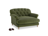 Truffle Love seat in Leafy Green Clever Cord