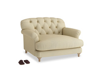Truffle Love seat in Parchment Clever Linen