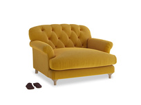 Truffle Love seat in Saffron Yellow Clever Cord